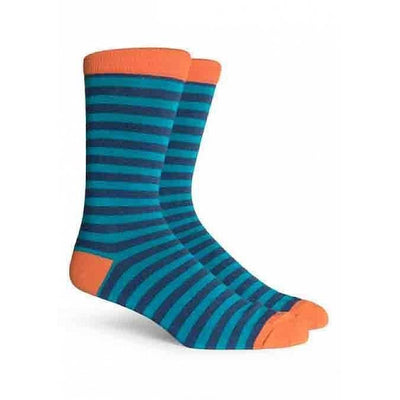 Theo Mens Crew Sock Richer Poorer Orange / Cyan Men MSC-THEO04