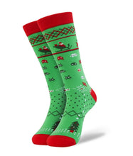 Load image into Gallery viewer, Xmas Invaders fun sock