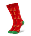 Pizza Tree Christmas Socks