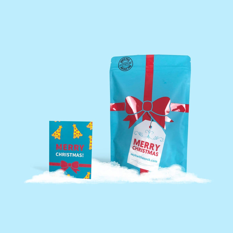 Christmas Bundle - Card + Packaging fun sock