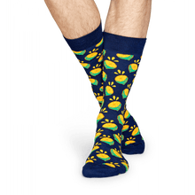 Load image into Gallery viewer, lime-socks-navy-large-socks