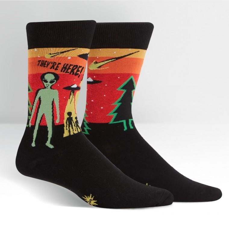 They're Here Crew Socks