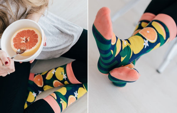 grapefruit socks