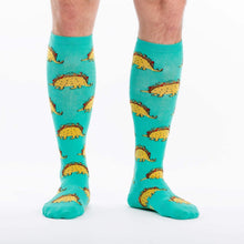 Load image into Gallery viewer, stretch-it-tacosaurus-socks