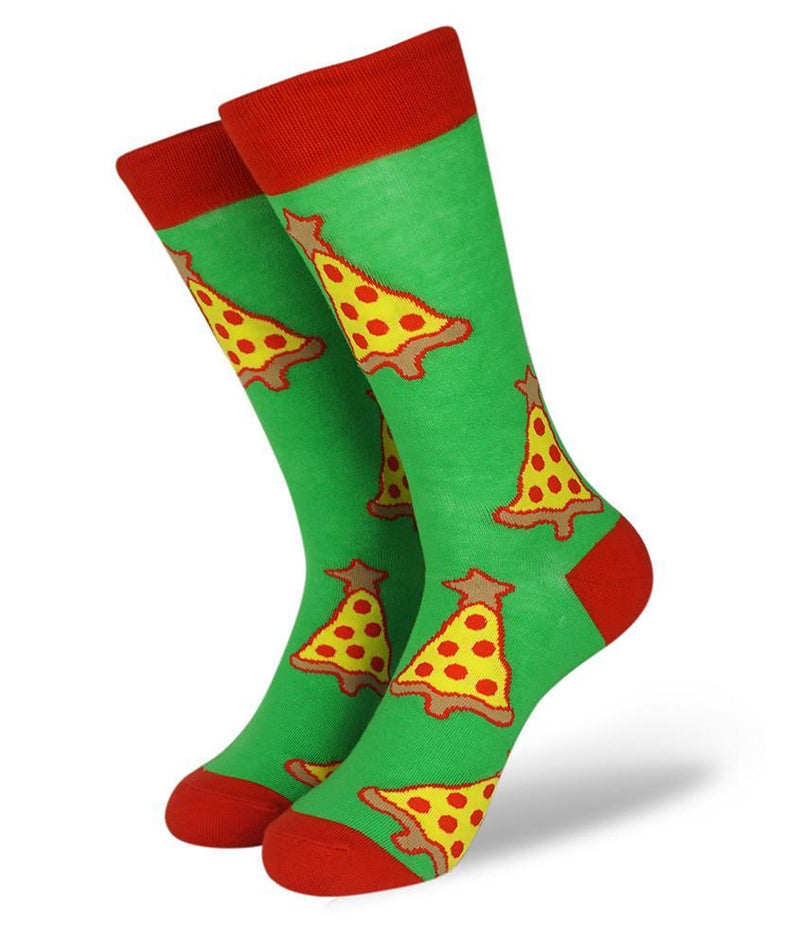 Pizza Tree Green fun sock