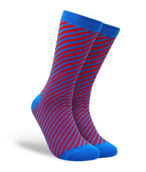 Diagonal Stripes - Red and Blue