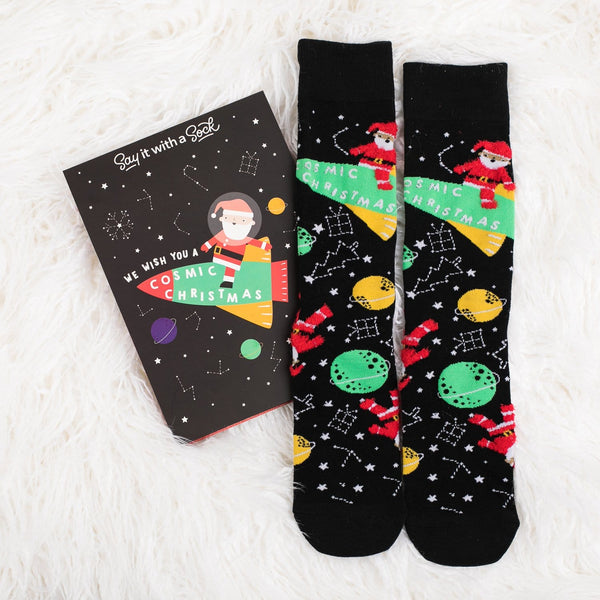 Cosmic Christmas Socks
