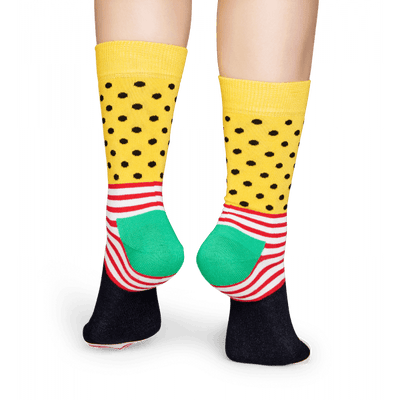 Stripes & Dots Socks Womens Crew Sock
