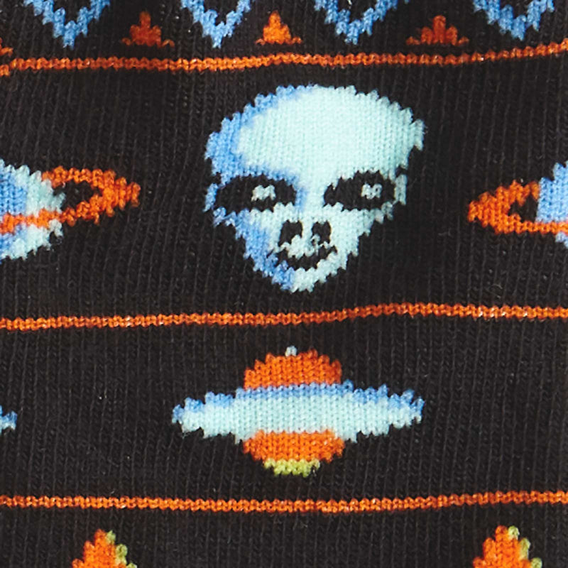 Kid's Alien Sweater Sighting fun sock