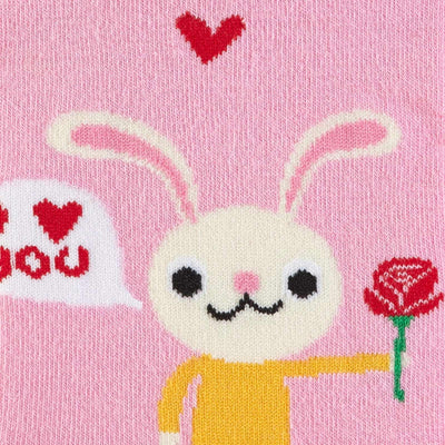 Love Bunny Womens Crew Sock