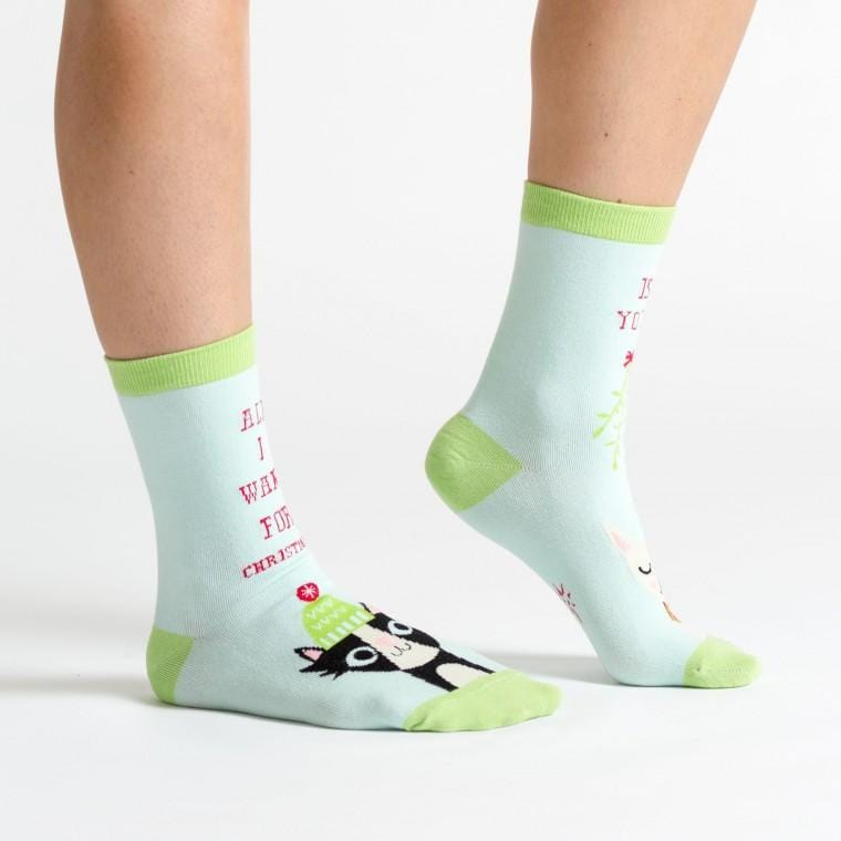 All I Want For X-mas fun sock