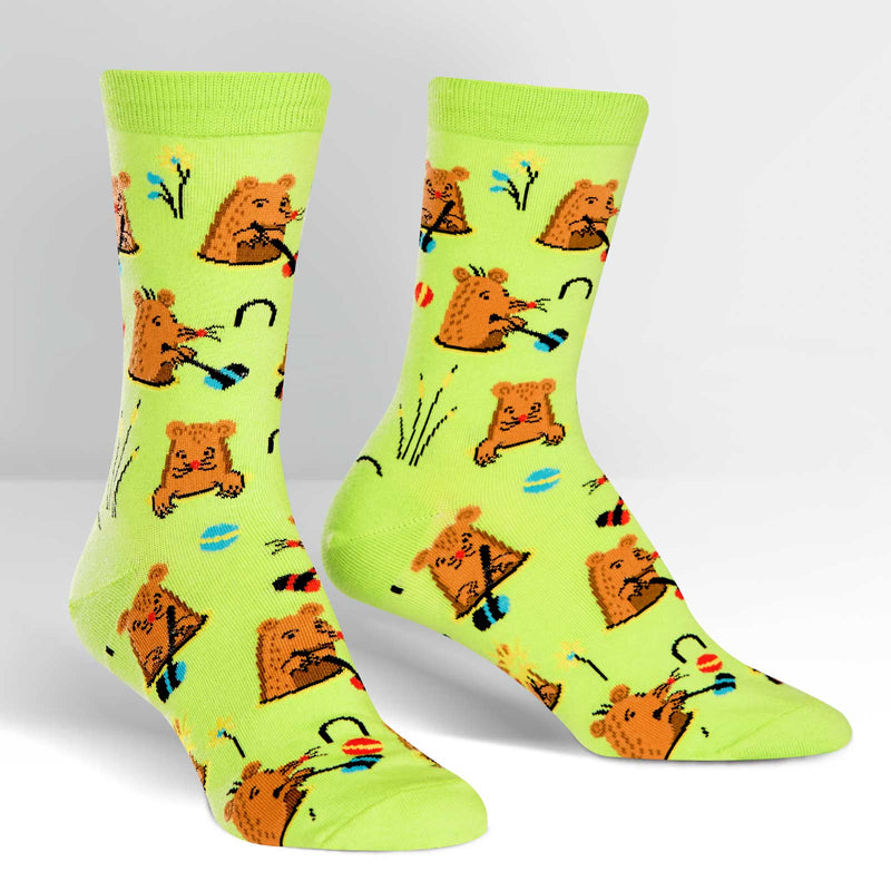 Whack-a-mole fun sock