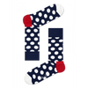 Big Dot Womens Crew Sock Happy Socks 10-13 Navy / Red / White BD01-608-411-10-13