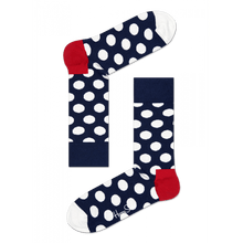 Load image into Gallery viewer, Big Dot Womens Crew Sock Happy Socks 10-13 Navy / Red / White BD01-608-411-10-13