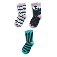 Load image into Gallery viewer, Assorted Girl's Pack of 3 Kids Socks Richer Poorer 6 - 8 Years H GSP-SS1508-M