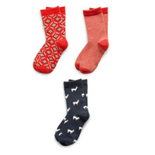 Load image into Gallery viewer, Assorted Girl's Pack of 3 Kids Socks Richer Poorer 6 - 8 Years C GSP-SS1503-M