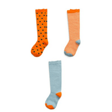 Load image into Gallery viewer, Assorted Girl's Pack of 3 Kids Socks Richer Poorer 9 - 11 Years J GSP-AW1410-L