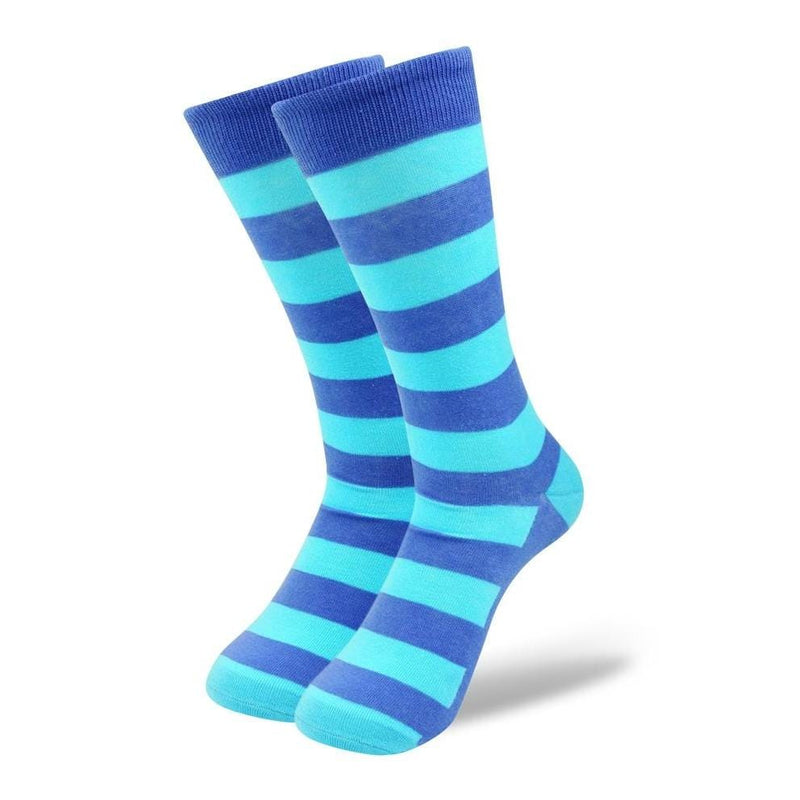 Blue on Blue on Blue Stripes fun sock