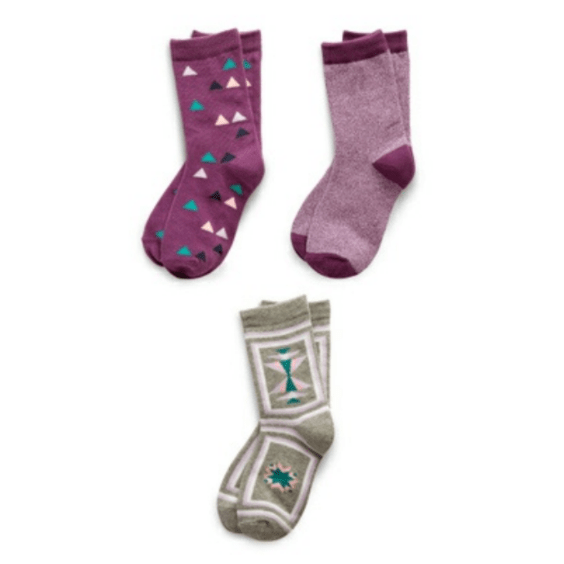 Assorted Girl's Pack of 3 Kids Socks Richer Poorer 9 - 11 Years E GSP-SS1505-L