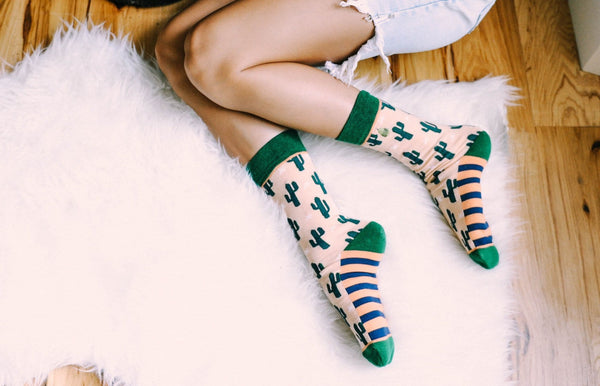 socks with cacti