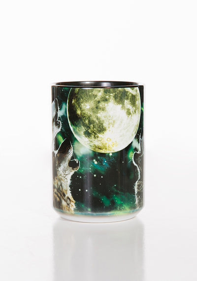 Three Wolf Moon Mug Black 15oz