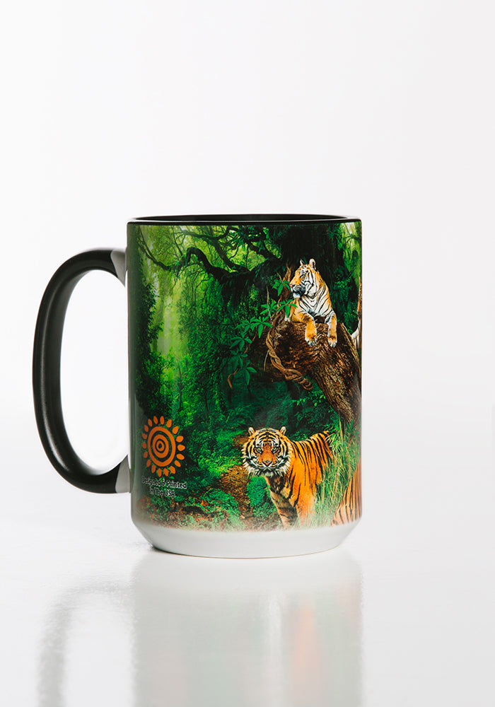 Wild Tiger Collage Mug Black 15oz