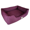 Armarkat Canvas With Waterproof Dog Sleeper Bed Burgundy