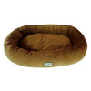 Armarkat Soft Velvet W- Waterproof Dog Sleeper Bed Large Brown