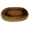 Armarkat Soft Velvet With Waterproof Dog Sleeper Bed Medium Brown