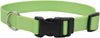 "Adjustable Nylon 5-8"""" Dog Collar W-tuff Buckle-lime, Neck Size 10""""-14"""""