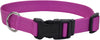 "Adjustable Nylon 5-8"""" Dog Collar W-tuff Buckle-orchid, Neck Size 10""""-14"""""