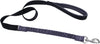 "Bungee 1"""" Dog Leash 4'-black-gray"