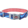 "Sublime 3-4"""" Adjustable Dog Collar-blue Diamonds W-dots, Neck Size 8""""-12"""""