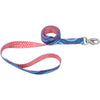 "Sublime 1"""" Dog Leash 6'-blue Diamond W-dots"