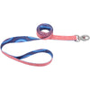 "Sublime 1"""" Dog Leash 6'-dots W-blue Diamonds"