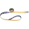"Sublime 1"""" Dog Leash 6'-yellow Chevron W-aztec"
