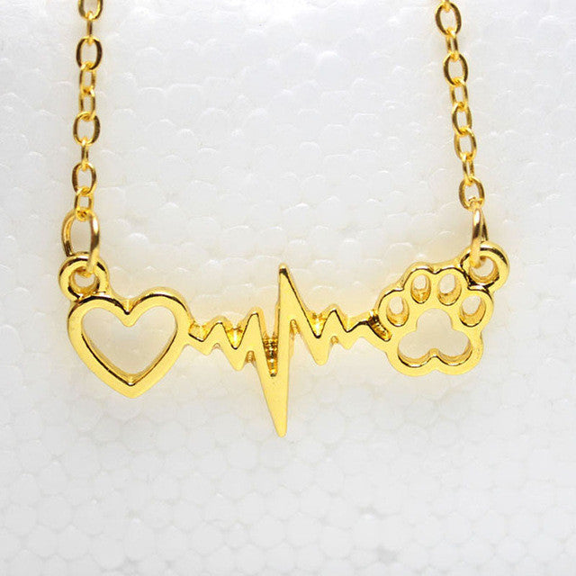 """Paw & Heartbeat"" Necklace"