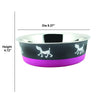 Modern Stainless Steel Pet Bowl Bowl Bonded Fusion Pink Base Large By Bella N Chaser