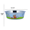 Sneaky Dog Design Stainless Steel Fusion Bowl Large By Bella N Chaser