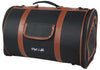 Airline Approved Fashion Cylinder Posh Pet Carrier- Dark Blue-brown