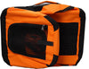 Folding Zippered 360 Vista View House Pet Crate - Orange
