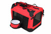 Folding Deluxe 360 Vista View House Pet Crate- Red