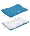 Eco-Paw Reversible Eco-Friendly Pet Bed- Blue And Aqua