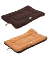 Eco-Paw Reversible Eco-Friendly Pet Bed- Brown And Cocoa