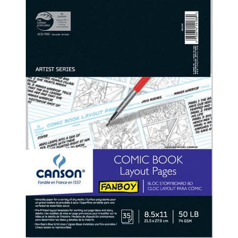 Canson Fanboy Comic Book Layout Pages Pad