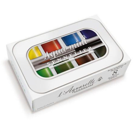 Sennelier Aqua Mini Watercolor Half Pan Sets