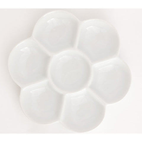 Jack Richeson Hand-Glazed Porcelain Ceramic Flower Tray Palette