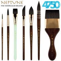 Princeton Neptune Series 4750 Synthetic Squirrel Brushes