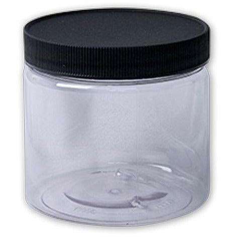 Jacquard Clear Plastic Wide Mouth Jar with Lid