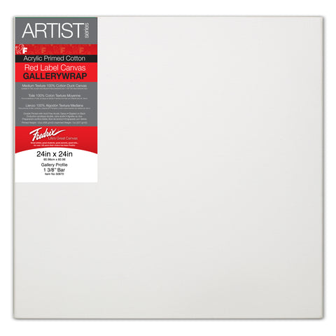 Fredrix Artist Red Label Stretched Canvas (Gallerywrap)